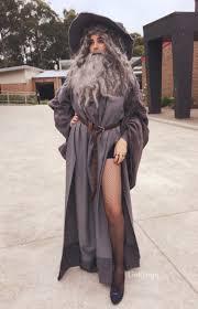 Wonderful Tjitske Van Vark From Melbourne, Australia Dressed Up In A Sexy Gandalf  Costume For Her