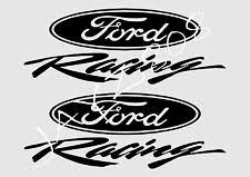 black ford racing logo. 2ea ford racing vehicle decals trd vinyl stickers die cut bumper graphics logo black