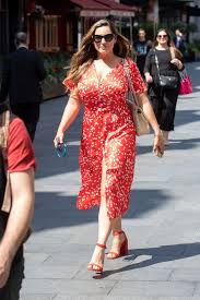 The presenter, 41, slipped into a stylish and floaty floral dress in blue, orange and cream hues, which. Kelly Brook Shows Off Two Stone Weight Loss In Sexy Red Dress Mirror Online