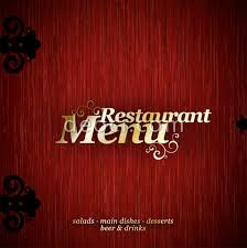red chinese style restaurant menu cover design template eps file s