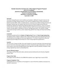 015 Executive Summary Template For Proposal Ideas Project