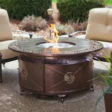red ember richland 48 in round propane fire pit table with diy coffee 4c8793390678e437e9410101378