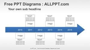 Timeline Slides In Powerpoint 6 Years Arrow Timeline Ppt Diagrams Download Free