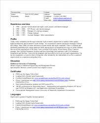 Sample Scrum Master Resume