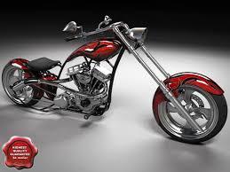 chopper motorcycle 3d model