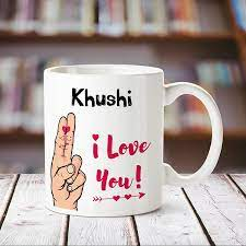 Buy Huppme I Love You Khushi Printed ...