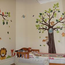 kids jungle nursery tree animals birds owl vinyl wall stickers wall decals 5053389008292