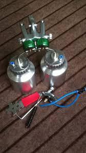 electrostatic spray paint double nozzle spray chemical chrome hvlp spray paint car pistola aerografo sat1200 5 in spray s from tools on