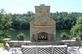 outdoor stone fireplace design plans free