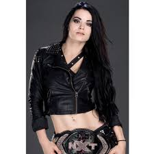 wwe paige black studded motorcycle leather jacket for