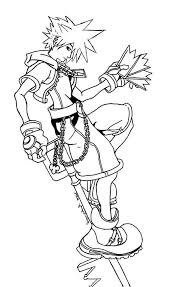 Small Picture Coloring Pages Kingdom Hearts Sora All Riku From Printable Of