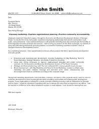 Cover Letter For Marketing Position Resume Pro