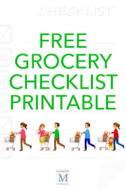Grocery Checklist Free Grocery Checklist Printable Everythingmom