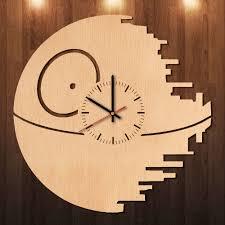 star wars old republic handmade natural wood wall clock
