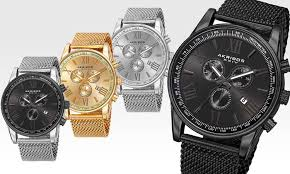 men s swiss chronograph watch groupon goods akribos xxiv men s swiss chronograph watch
