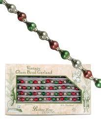 Vintage style glass christmas garland