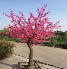 2019 led cherry blossom tree lamp 1 5 2 5 meters high simulation natural trunk wedding decoration lighting festival lighting garden decoration from