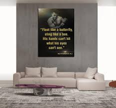 inspirational artwork for office. 1 Piece Framed Muhammad Ali Motivation Canvas Prints - Butterfly Bee Inspirational Artwork For Office C