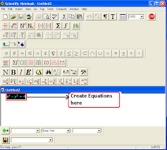 create equations in the editor