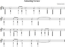 Bagpipe Finger Chart Amazing Grace Amazing Grace Sheet Music For Tin Whistle In 2019 Tin