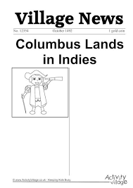 columbus essay prompt  christopher columbus essays · christopher columbus newspaper writing prompt activity village
