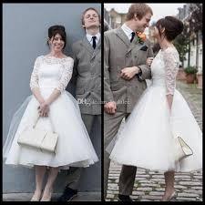 discount simple ivory short wedding dresses 2017 elegant scoop