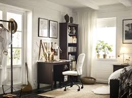ikea office furniture catalog. a corner in the bedroom with brown desk and high bookcase completed ikea office furniture catalog