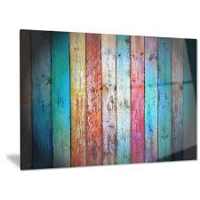 designart x27 vintage wooden pattern x27 contemporary metal wall art on turquoise wood and metal wall art with shop designart vintage wooden pattern contemporary metal wall art