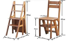 chair ladder convertible multi functional four step library ladder chair library furniture folding wooden stool chair