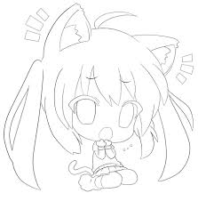 Anime Cat Chibi Coloring Pages Coloring Pages