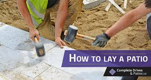 how to lay a patio complete drives