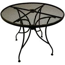 wrought iron round table top with base 36
