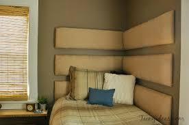 diy corner headboard using individual upholstered boards