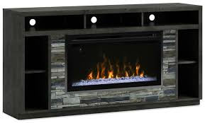 tv stand with glass ember firebox anthracite hover to zoom