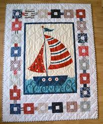 17 Best images about Nautical quilt patterns on Pinterest ... & SerendipitiJoy: Nautical quilt 2 finished. I love the border with the  colored squares and Adamdwight.com