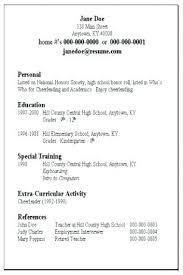 Easy Resume Samples