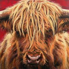 highland cow painting highland cow by leigh banks