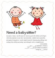 Babysitter Flyer Maker 26 Images Of Babysittinf Flyer Template Splinket Com