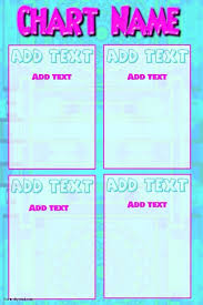 Cute Chart Template Cute Chart In Pink And Blue Template Postermywall