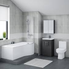 White Bathroom Suite Brooklyn Hacienda Black Bathroom Suite With B Shaped Bath Online Now