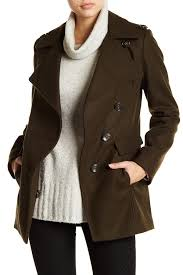 image of kenneth cole new york wool blend peacoat