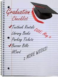 diploma to do list seniors have unfinished business before  diploma to do list seniors have unfinished business before graduation