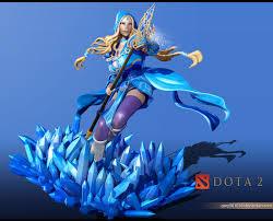 crystal maiden dota 2 fanart cgtrader com