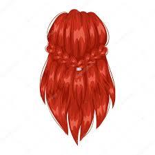 ベクトルの女性の髪型戻って表示します ストックベクター Adekvat