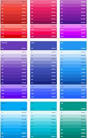 Material Design Color Palettes 2