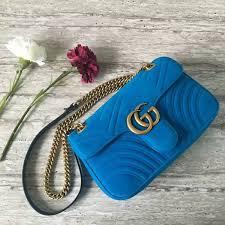 gucci 443497. gucci gg marmont suede leather medium shoulder bag 443497 blue