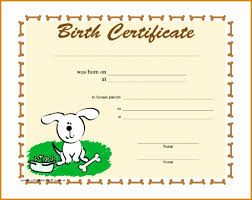 dog birth certificates 7 free birth certificate templates besttemplates besttemplates