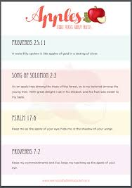 verses about apples