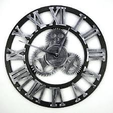 handmade 3d gear wall clock retro large vintage industrial style home loft decor large black metal