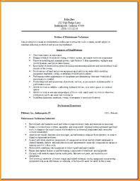 maintenance supervisor resume objective 6 technician mac template